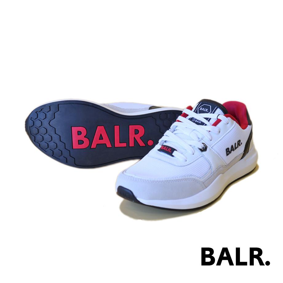BALR. ボーラー メンズ スニーカー メッシュアッパー シューズ ロゴ ホワイト CLEAN CLASSIC SNEAKERS