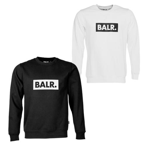 BALR. ボーラー メンズ 裏起毛 スウェット トレーナー Club Crew Neck Sweater ホワイト ブラック