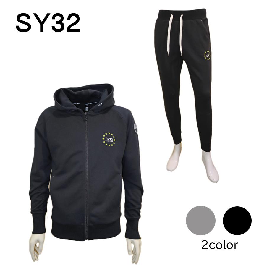 SY32 sy32 エスワイサーティトゥ by SWEET YEARS スイートイヤーズ セットアップ メンズ スウェット ブラック グレー