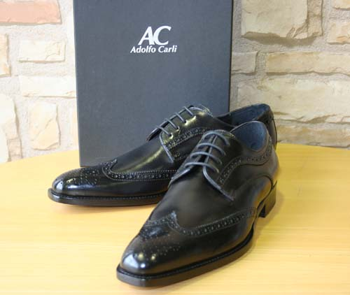 【ADOLFO CARLI】アドルフォカーリー メンズ ビジネスシューズ  ドレスシューズ ウィングチップ 革靴