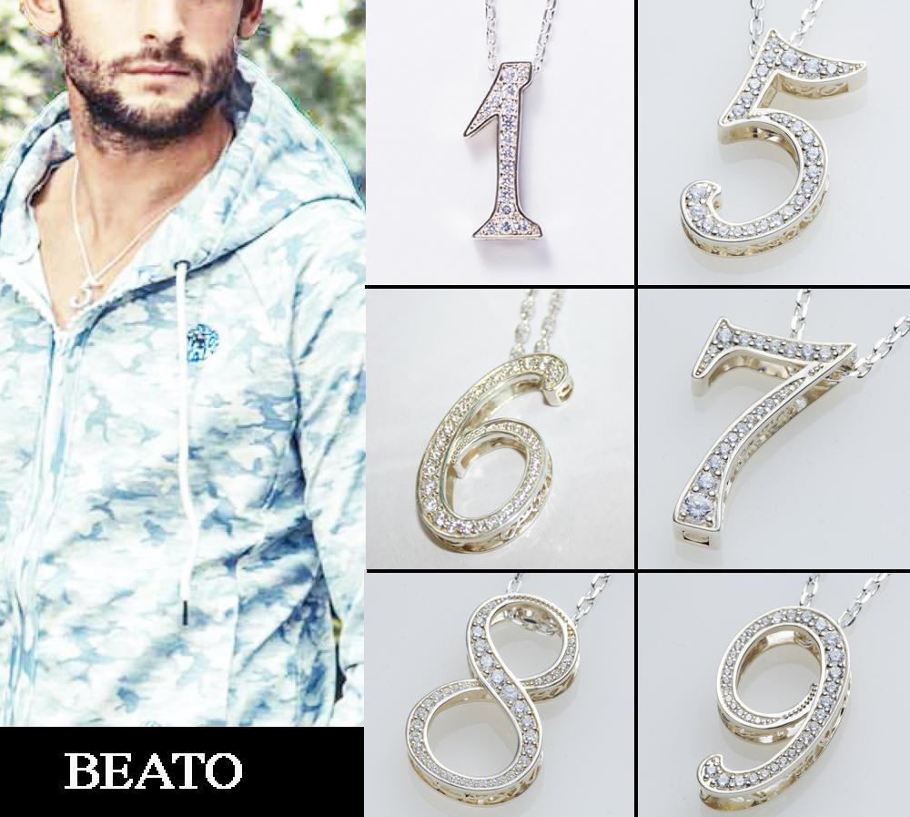 【BEATO】ナンバーネックレス シルバー