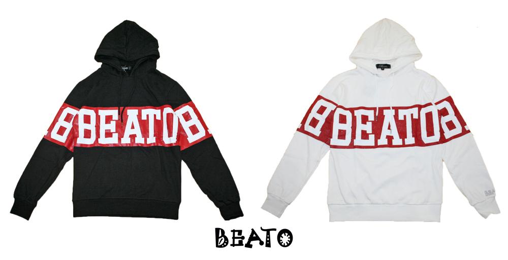 【BEATO】ベアート スウェット プルオーバー パーカー ビッグロゴ 全2色