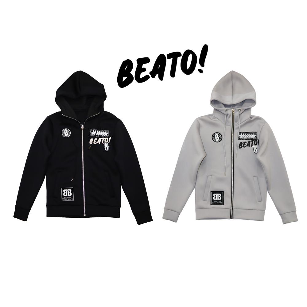 BEATO ベアート beato ウレタン素材  ダイバーズウレタン ジップアップジャケット ジャケットのみ 全2色ブラック アイスグレー
