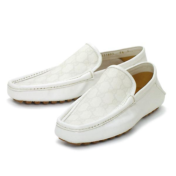 ★ Gucci mens shoes GG pattern white 153991