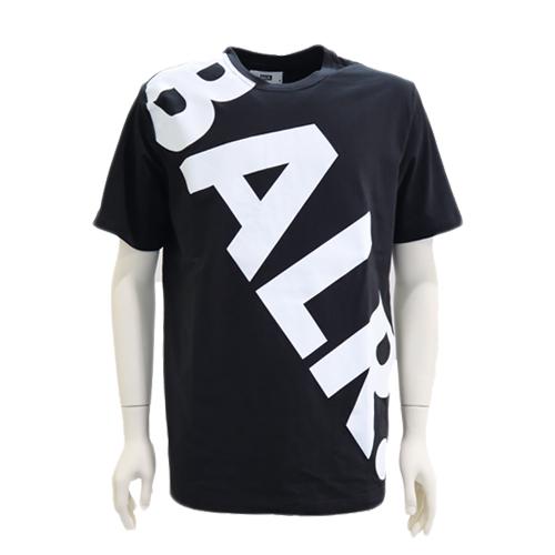 BALR. ボーラー 半袖Tシャツ ロゴプリント Tilted Logo T-Shirt ブラック 2019秋冬新作