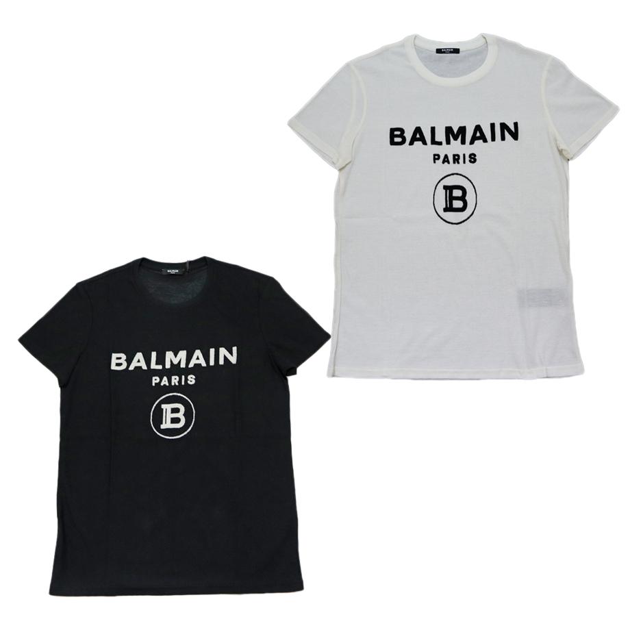 BALMAIN バルマン メンズ 半袖 tシャツ ホワイト ブラック