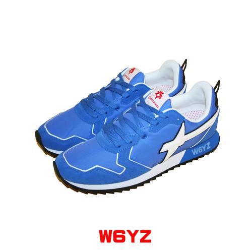 W6YZ ウィズ メンズ スニーカー シューズ w6yz 1C77 ブルー イタリアブランド WIZZ
