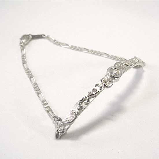 細身の唐草ブレスレットSlender arabesque bracelet【送料無料】アラベスク トライバル腕輪 bg-04