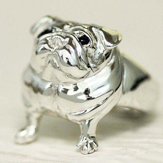 見上げるパグリングLooking up pug ring送料無料 もの言いたげ たぷたぷ パグ ぶひ ぱぐ ぶひ わんこ 犬 つぶら グッズ プレゼント リング シルバー ジュエリー ブランツ 銀 愛嬌 肉厚 リアル 可愛い かわいい 指輪dr-13
