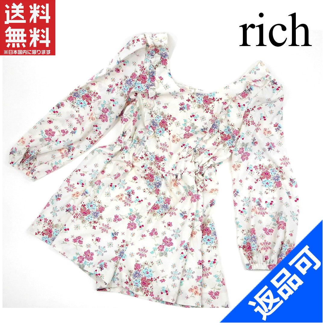 [閉店セール]リッチ rich サロペット 花柄 中古 X2253