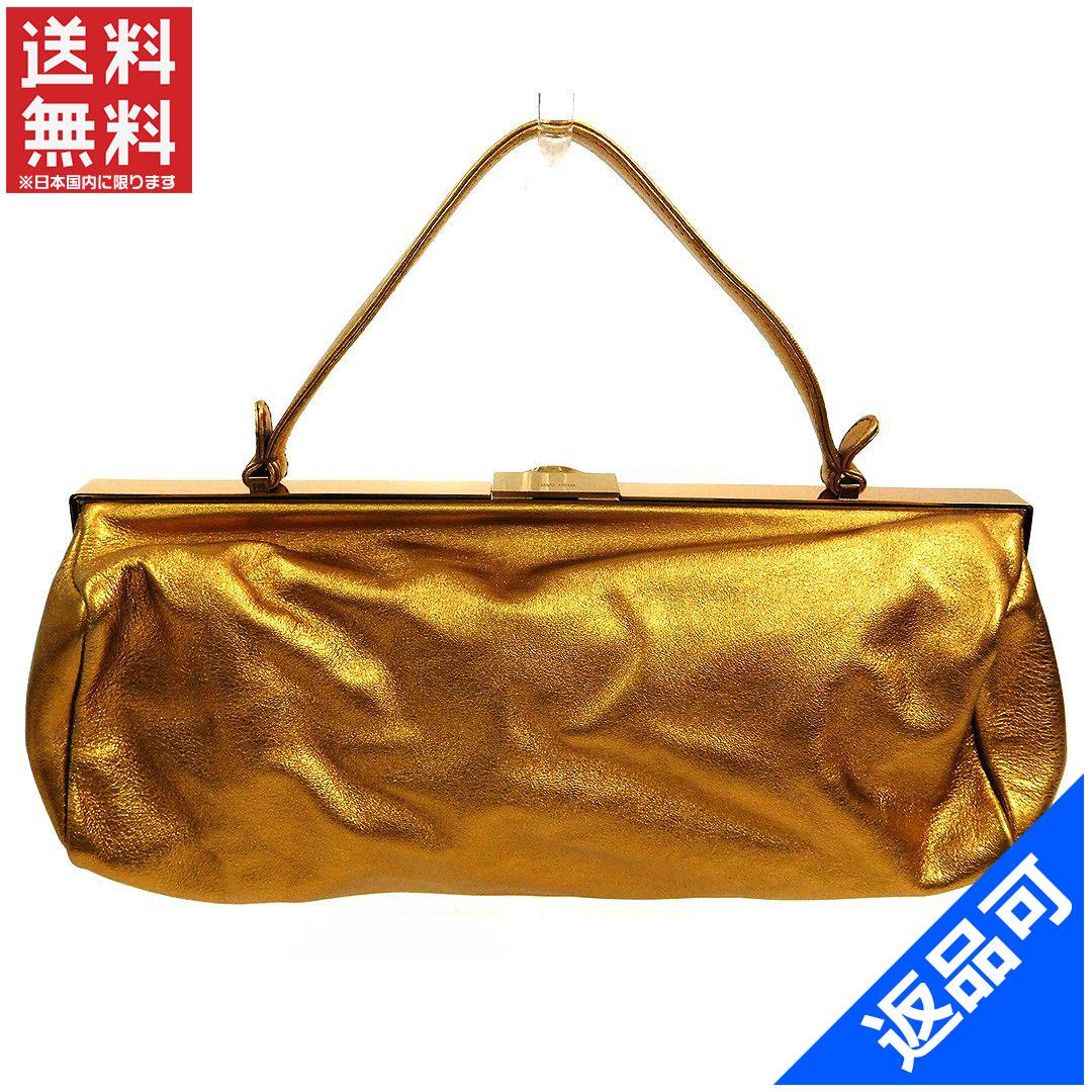 ミュウミュウ バッグ レディース ハンドバッグ miumiu ロゴ パーティバッグ がま口 (美品・即納) 【中古】 X2782