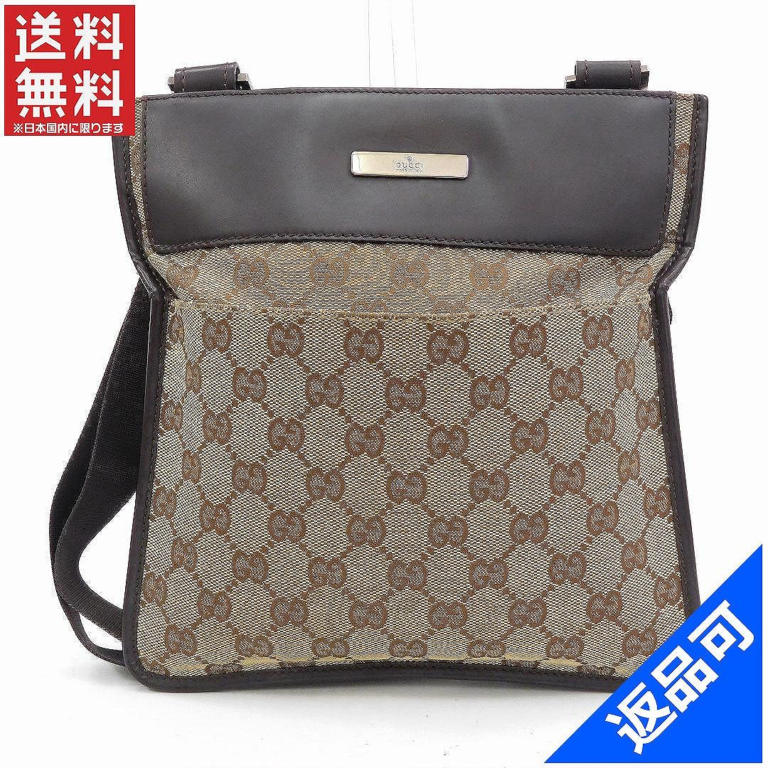 (Quality and instant delivery) (Correspondence) Gucci bags   shoulder bag    oblique aimed shoulder   mens-friendly  GG handle   Brown x Beige canvas x  ... 38f17980a4279