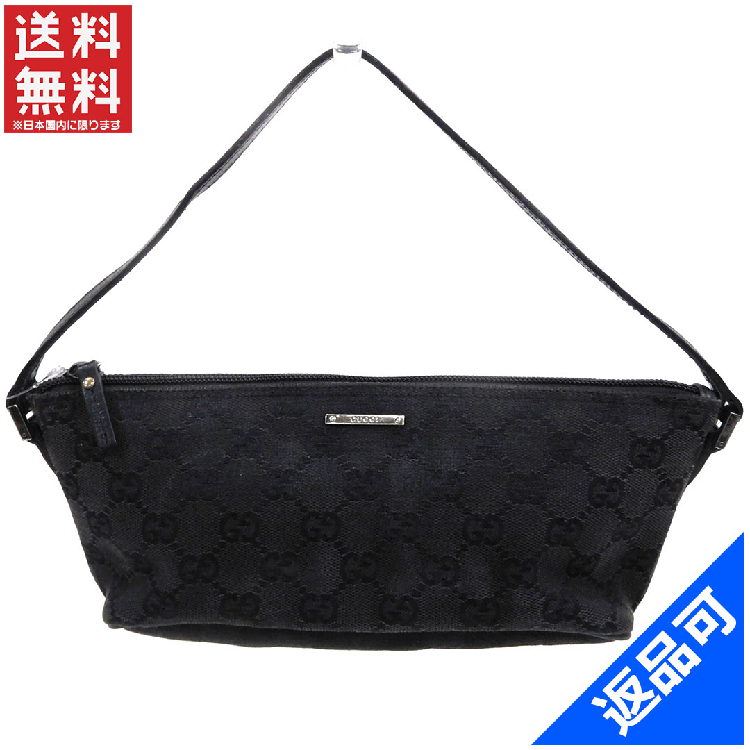 7c8fda22a6b (Cheap and quick delivery) (correspondence) Gucci bags   pouch makeup with  pouch slim   men s   accessories  GG poach black x silver canvas x leather  X4880