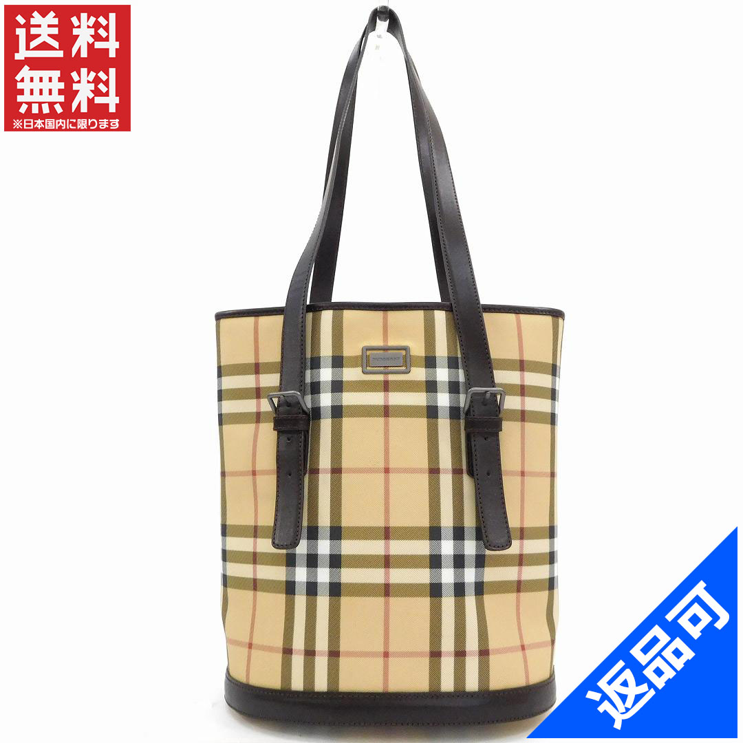 1c3ffd7a8f32 (Cheap and quick delivery ) (correspondence) Burberry  BURBERRY   shoulder  bag   bucket type shoulder   men s   Nova check   Brown x beige   x leather  ...