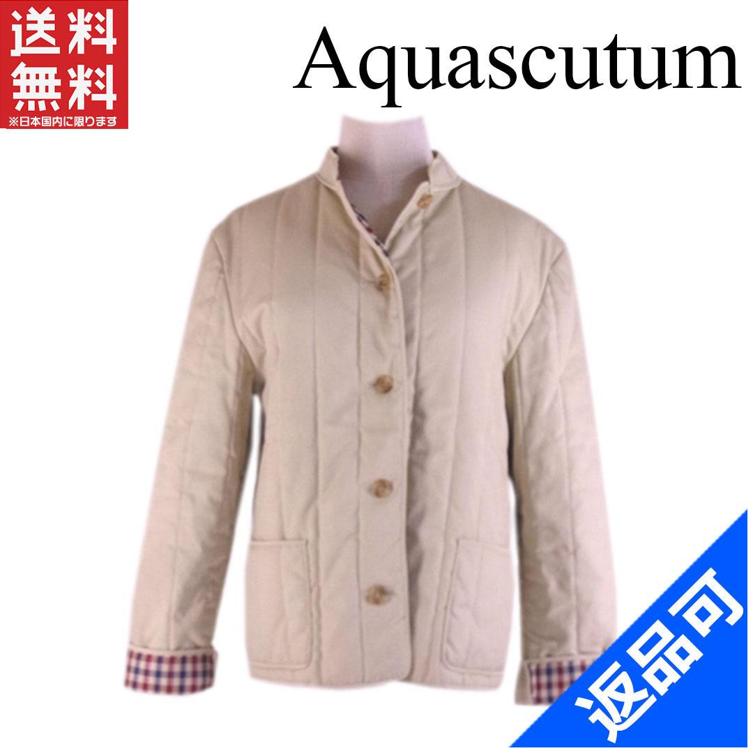 [半額セール]アクアスキュータム Aquascutum コート ブルゾン キルティング チェック 中古 X5160
