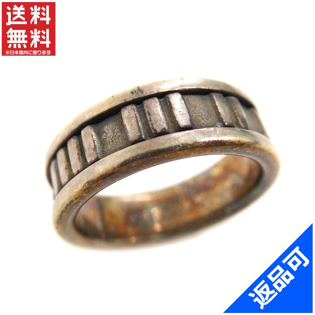[閉店セール]ティファニー Tiffany&Co. 指輪 リングアクセサリー ♯10~10.5号アトラスナロー ローマ数字 中古 X5736