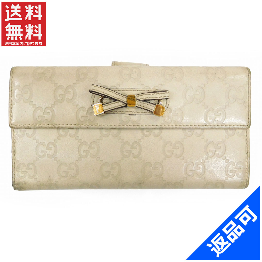 ada101a3caf6 Gucci by GUCCI long wallet/w hook guccissima x printhie White leather with popular  low-price X6092