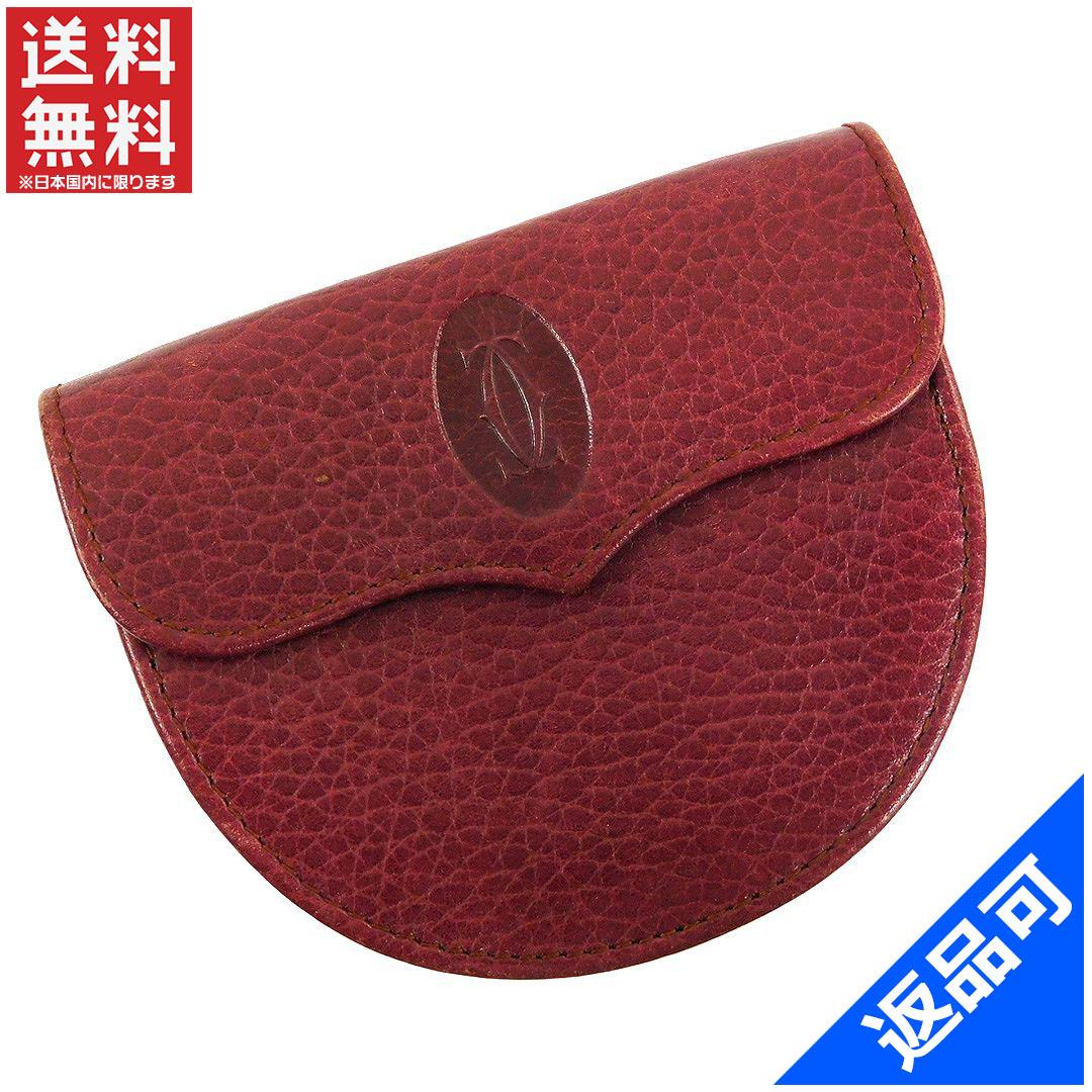 [閉店セール]カルティエ Cartier 財布 コインケース 小銭入れ マストライン 中古 X6130