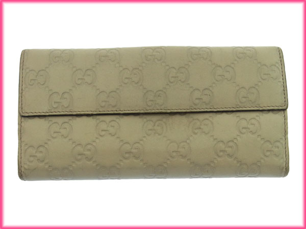 bfeaf86d66af GUCCI Gucci purse heart long wallet fittings guccissima W hook two fold  women's popular low-price X6133