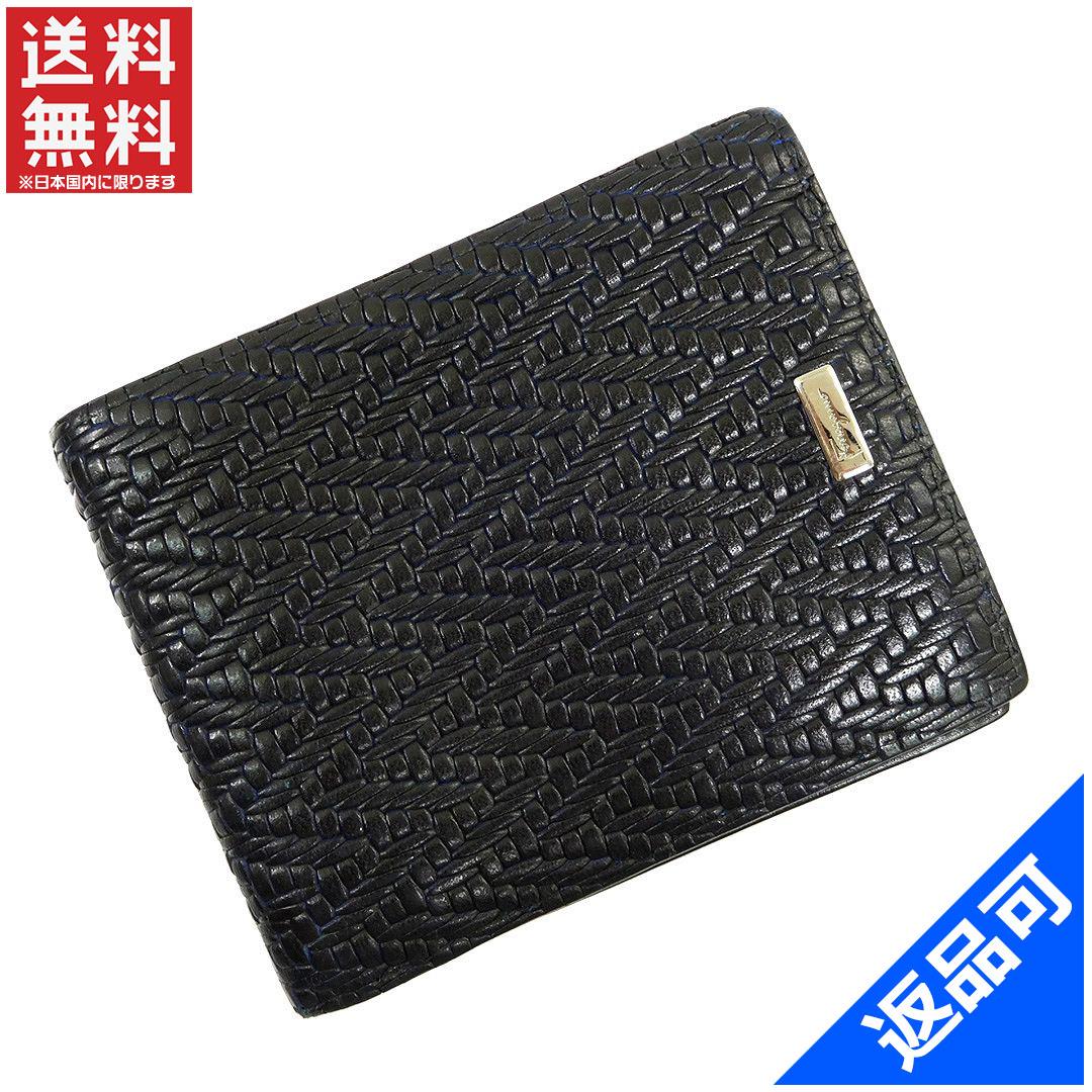 5f1a6e262808c5 Salvatore Ferragamo Salvatore Ferragamo two bi-fold wallet-friendly compact  size mens slim black x silver leather (correspondence) popular low-price  X6158