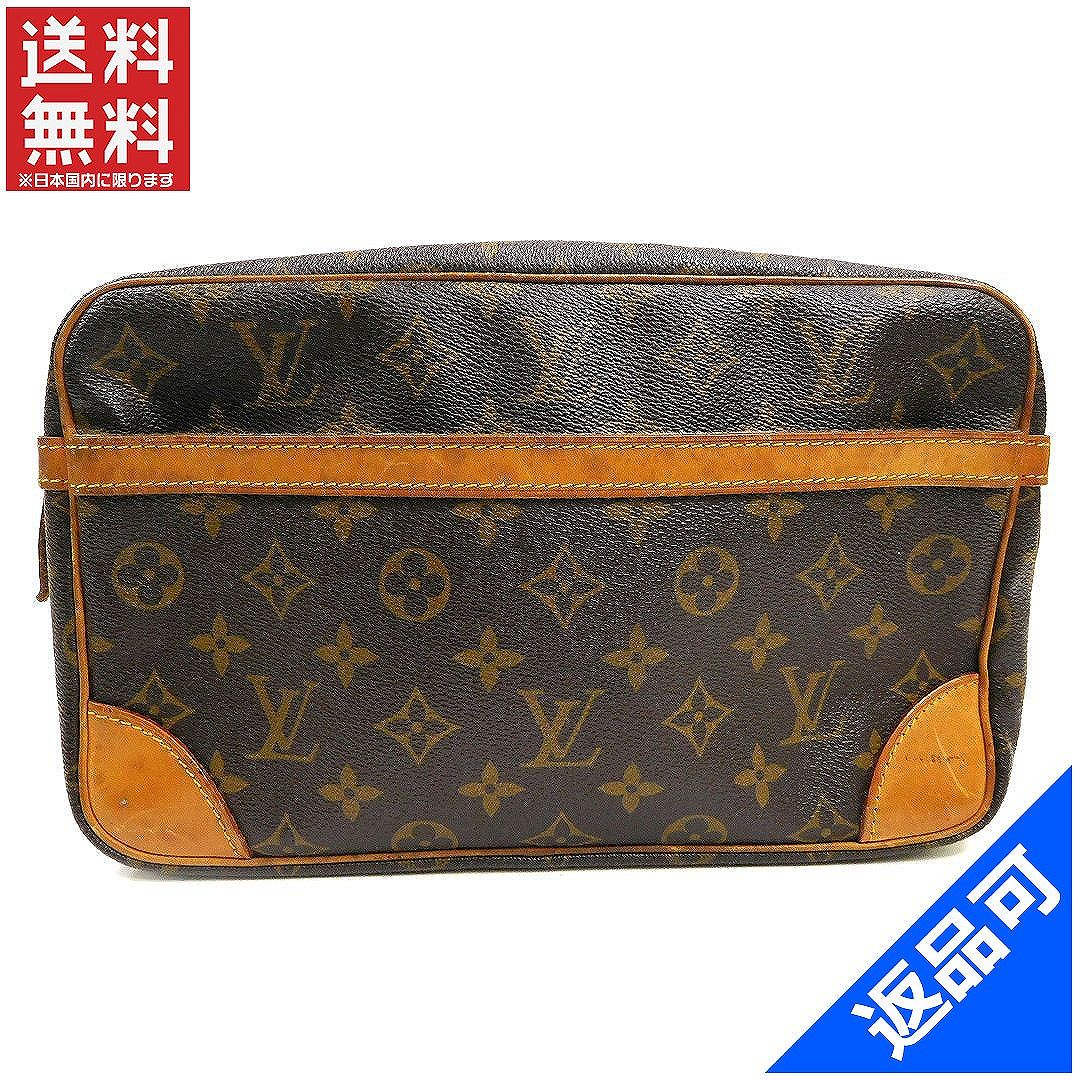 113a7baf951b Louis Vuitton Louis Vuitton second bag clutch bag men-friendly Compiègne 28  Monogram Brown Monogram Canvas with popular low-price (reference price   56