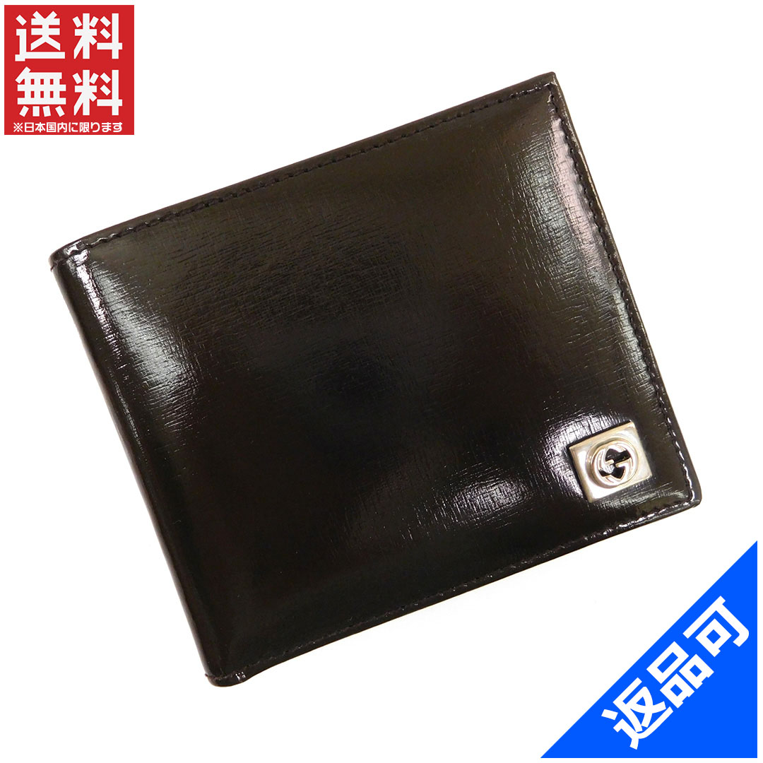 bd6a428d21 Gucci by GUCCI 2 fold wallet compact size mens interlocking G double G dark  brown x ...