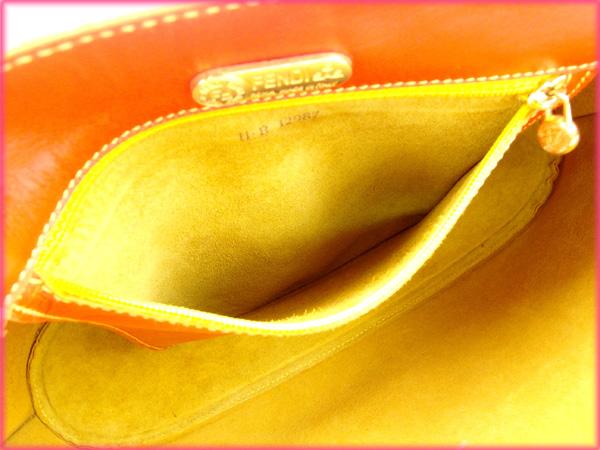 c62440b1c1a3 Fendi by FENDI handbags men-friendly Orange Leather with popular low-price  X6356
