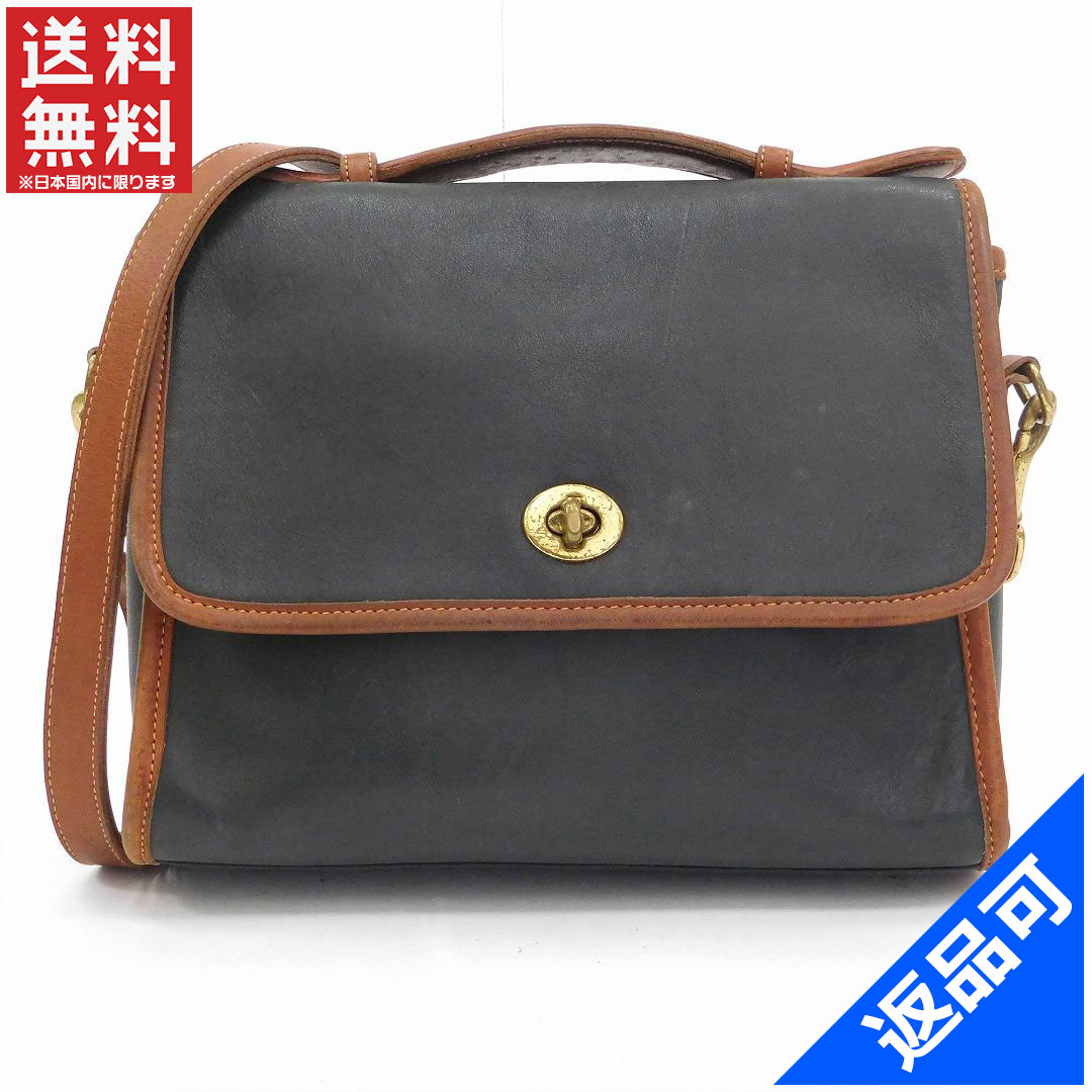 bd39719a5053 Coach COACH shoulder bag 2-WAY shoulder leather x brown leather with  popular low-price X6375