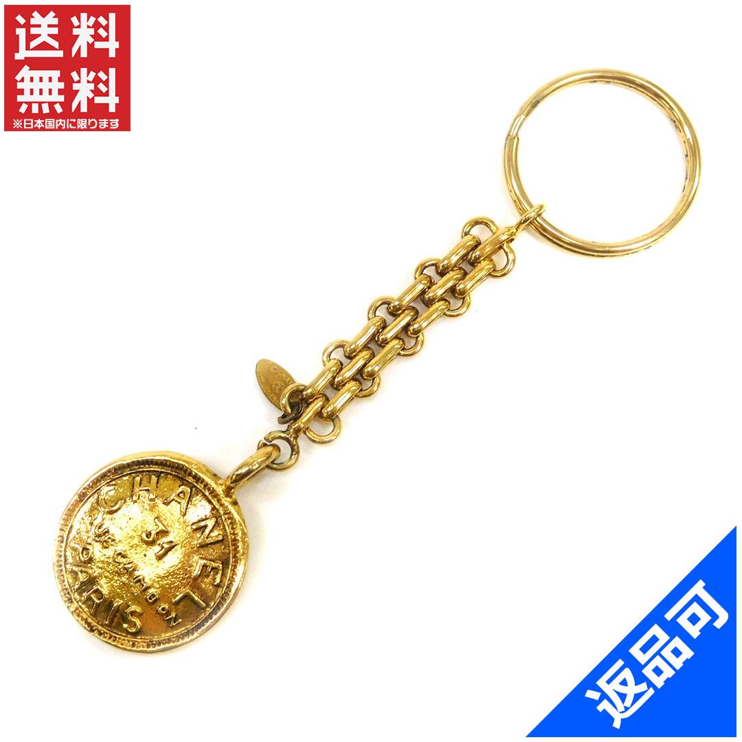 8482c800d203a Designer Goods BRANDS  Chanel CHANEL key ring Keyring charm men-friendly  vintage coin gold gold plated (correspondence) popular Rhea X6628