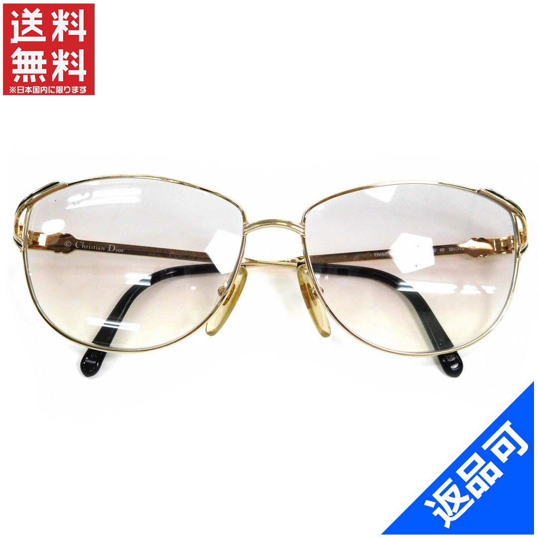 0af78021454ae Christian Dior Christian Dior sunglasses glasses mens-friendly clear vintage  limu x Gold x black stainless steel x plastic (capable) popular beauty  products ...