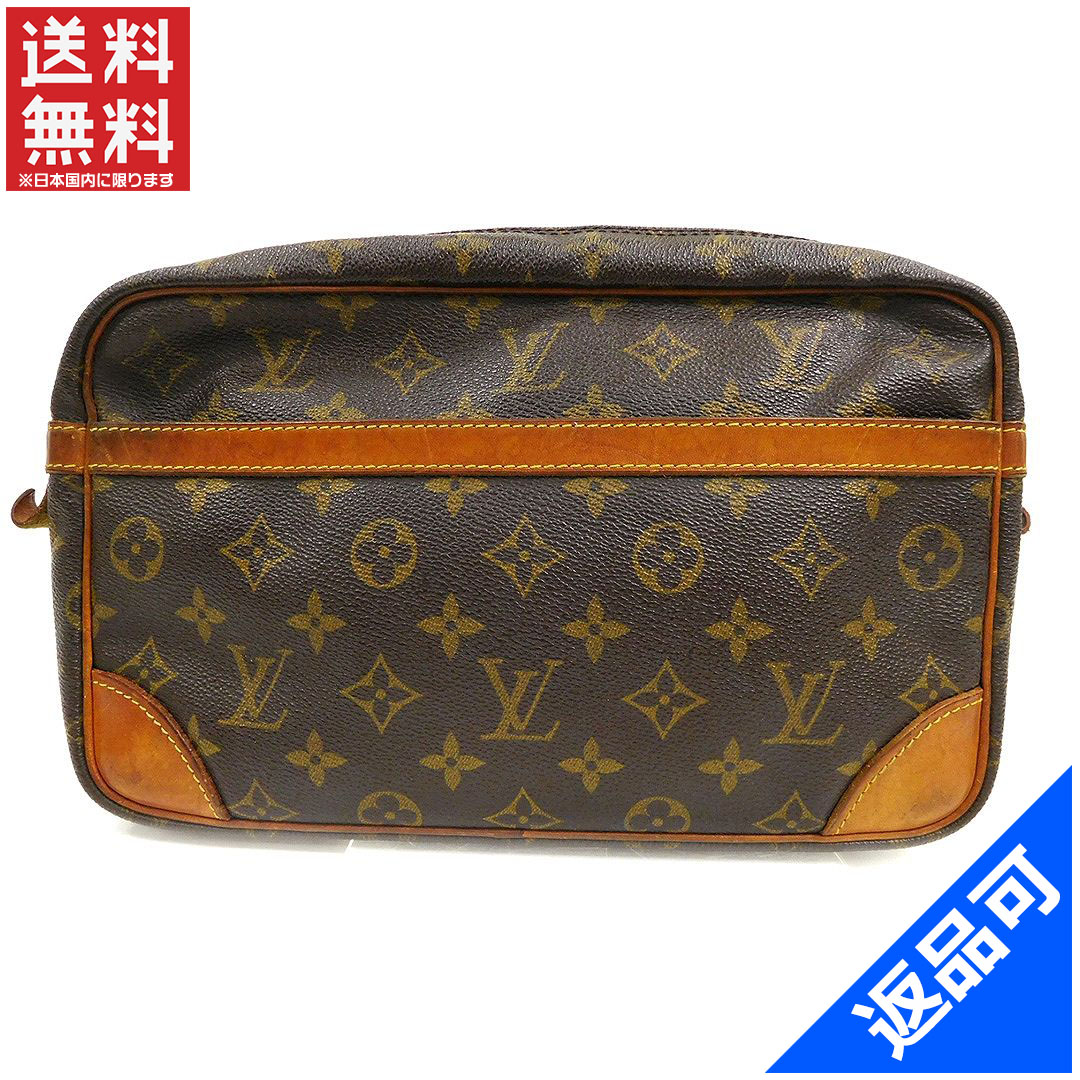 Louis Vuitton Second Bag Clutch Mens Allowed Compiègne 28 Monogram Brown Canvas Correspondence Por Low Price Reference