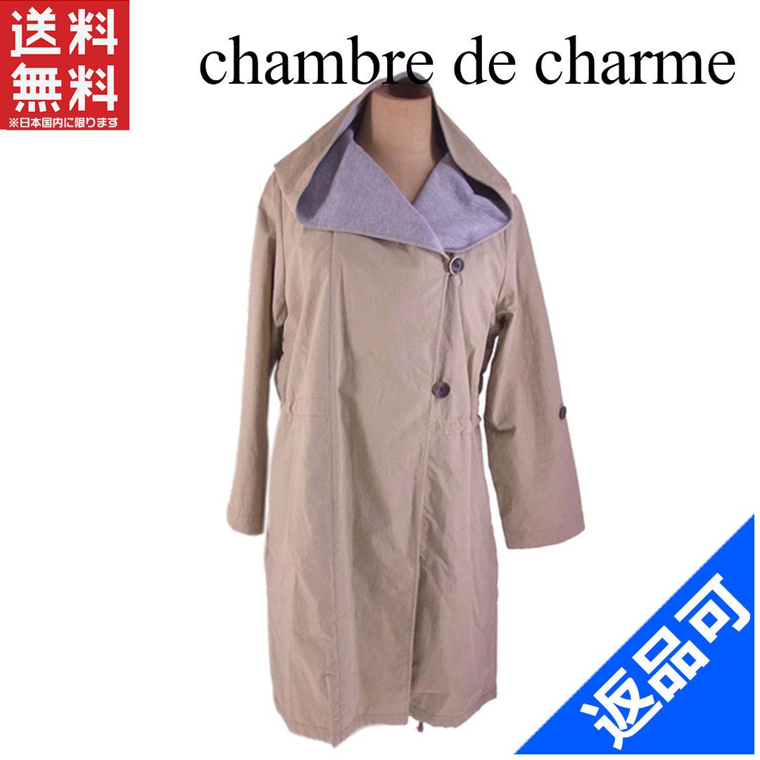 [半額セール]シャンブルドゥシャーム chambre de charme コート 裏地カットソー ♯Fサイズ 袖ロールアップ フード付き 中古 X6829