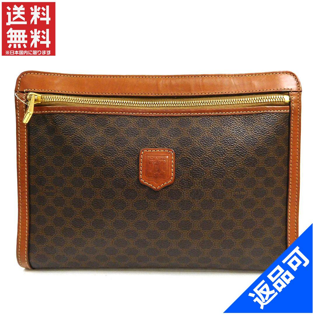 Designer Goods BRANDS  Celine CELINE bag clutch bag men-friendly straps  with macadam Brown x light brown PVC x leather (correspondence) popular low- price ... 625de0900cb43