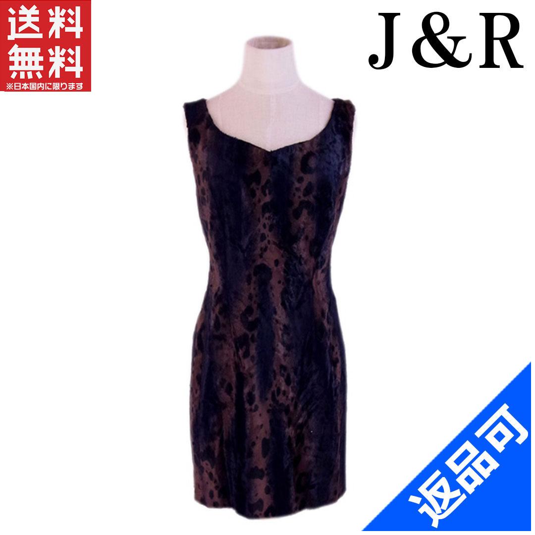 [閉店セール]J&R J&R ワンピース ノースリ ドレス ♯Mサイズ ジャンパースカート アニマル柄 中古 X6951