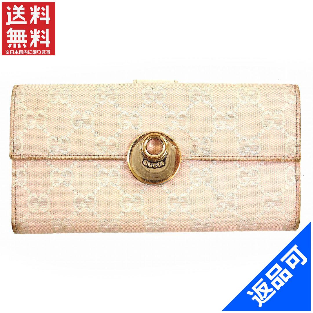 1ca9650c052e9d Gucci by GUCCI long wallet W hook 2 fold women's Eclipse GG canvas light  pink × ...
