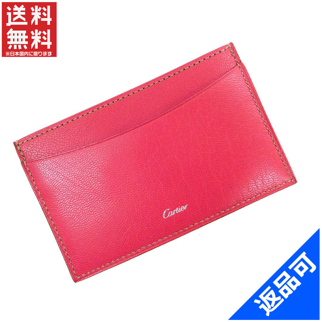 new product f1529 02578 Cartier Cartier card case ladies logo remaster Pink / Silver leather with  popular beauty products X7101