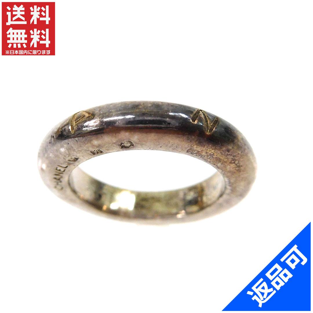 シャネル レディース (メンズ可) 指輪 CHANEL ♯12~12.5号 ロゴ リング  アクセサリー 人気 激安 【中古】 X7106