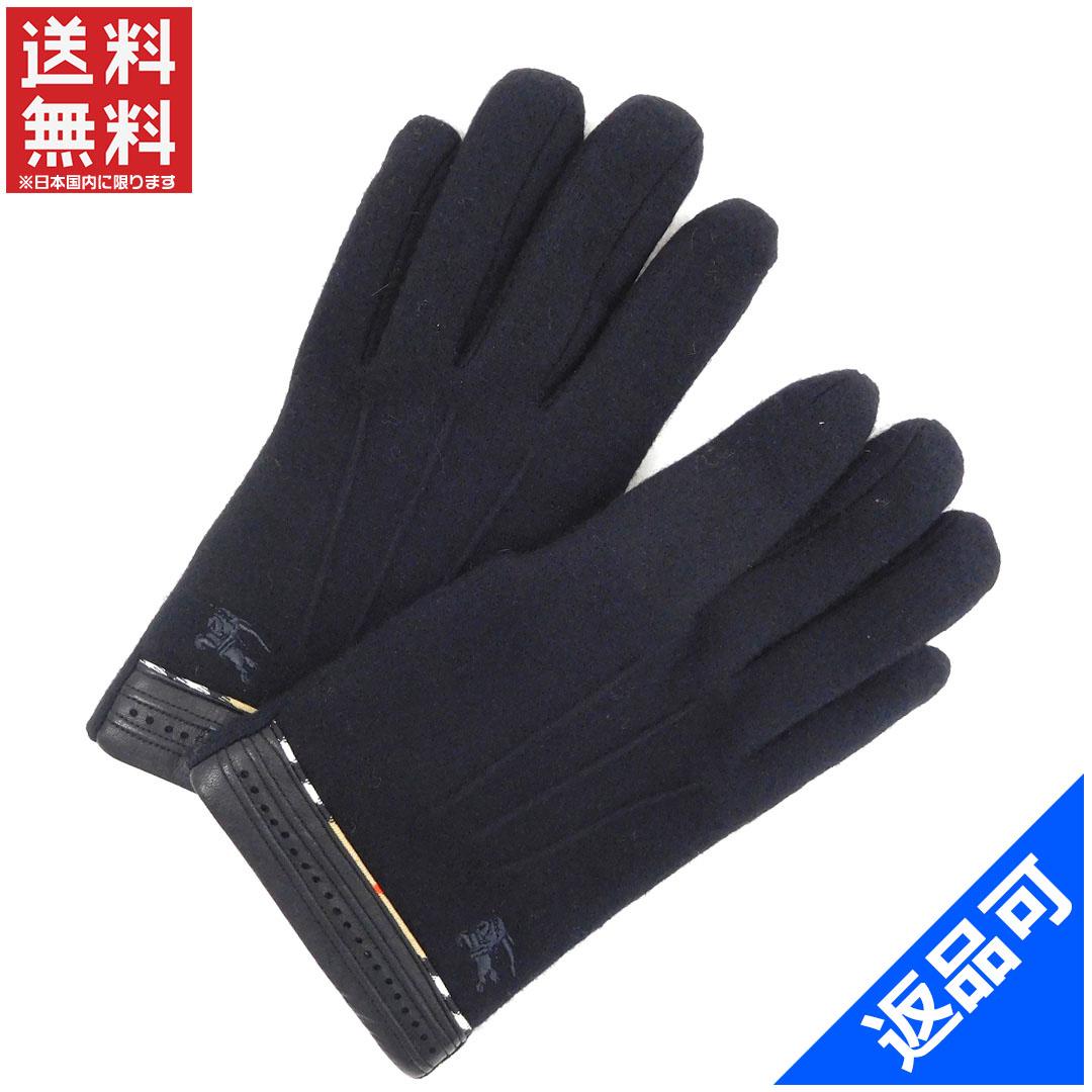 バーバリー レディース (メンズ可) 手袋 BURBERRY ノバチェック 人気 良品 【中古】 X7210