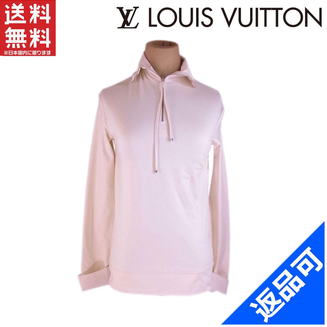 [半額セール]ルイヴィトン LOUIS VUITTON カットソー 長袖 ♯34サイズ ロゴキューブ付き スタンドZIP 中古 X7420