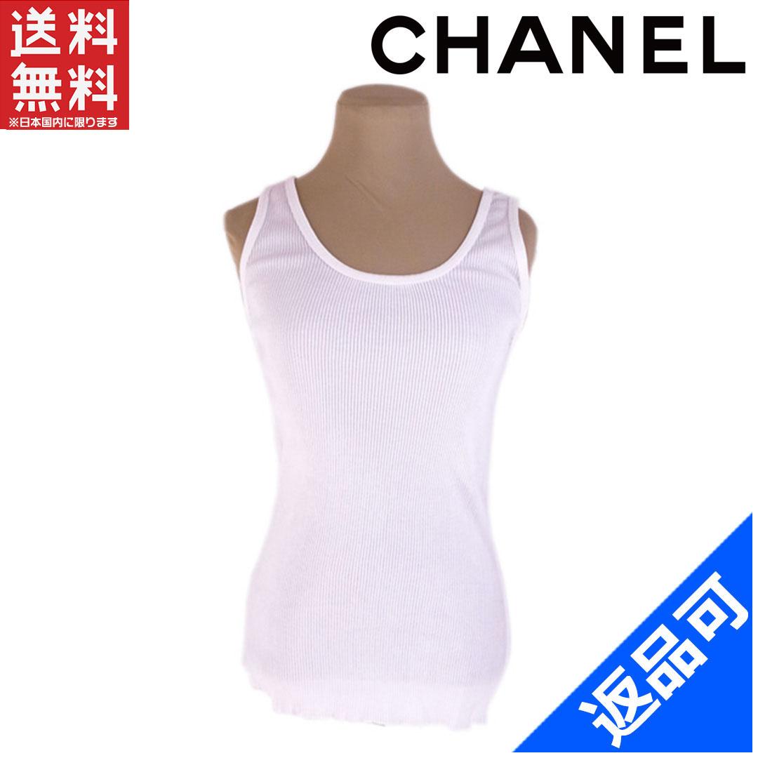 [閉店セール]シャネル・ブティック CHANEL Boutique タンクトップ インナー ♯38サイズ リブ 中古 X7528