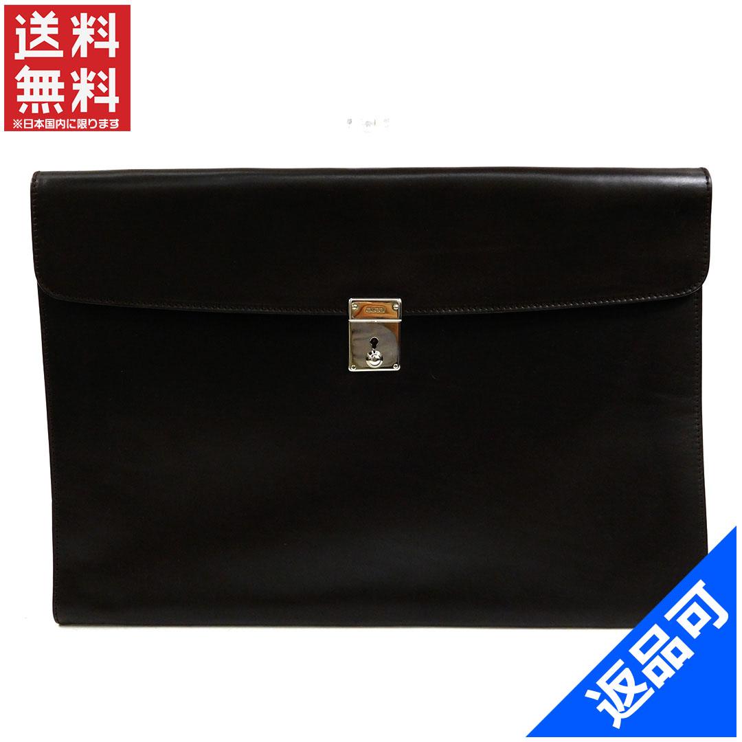 [半額セール]グッチ GUCCI バッグ ビジネスバッグ 書類ケース ロゴ 中古 X7605