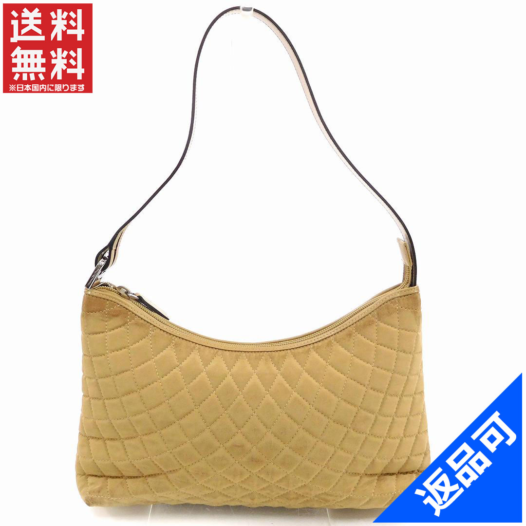 Designer Goods BRANDS  Bally BALLY shoulder bag shoulder women s quilted  beige  times  silver Nylon canvas   leather with popular low-price X7655  d24077d5ed
