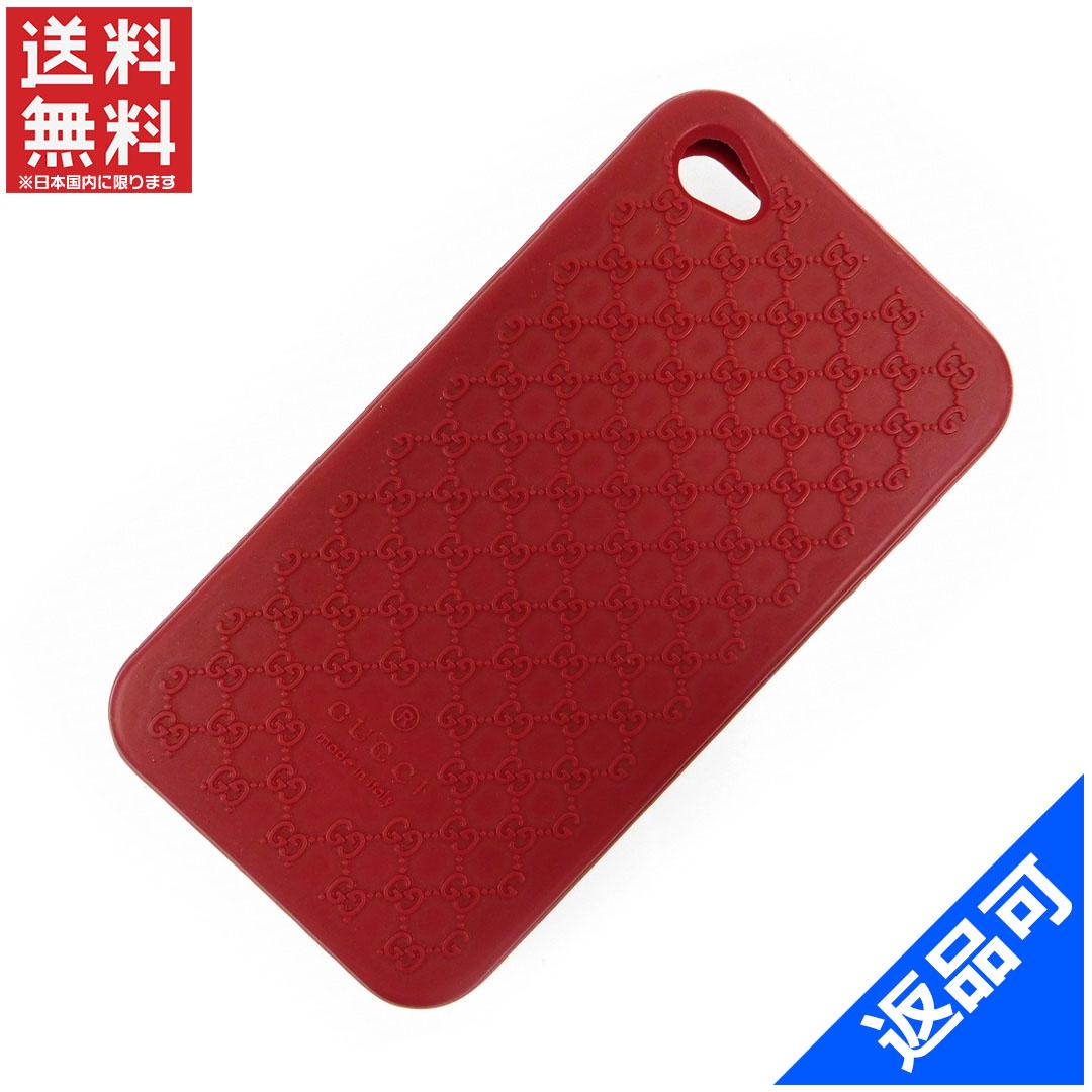 [閉店セール]グッチ GUCCI スマートフォンケース iPhoneケース スマホケース iPhone44s対応 マイクロGG 中古 X7693