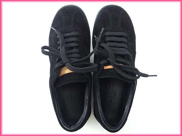 Louis Vuitton Louis Vuitton sneaker shoes shoes ladies mens allowed # 36  half lace-up black x beige Suede (for) less products that use new X7857