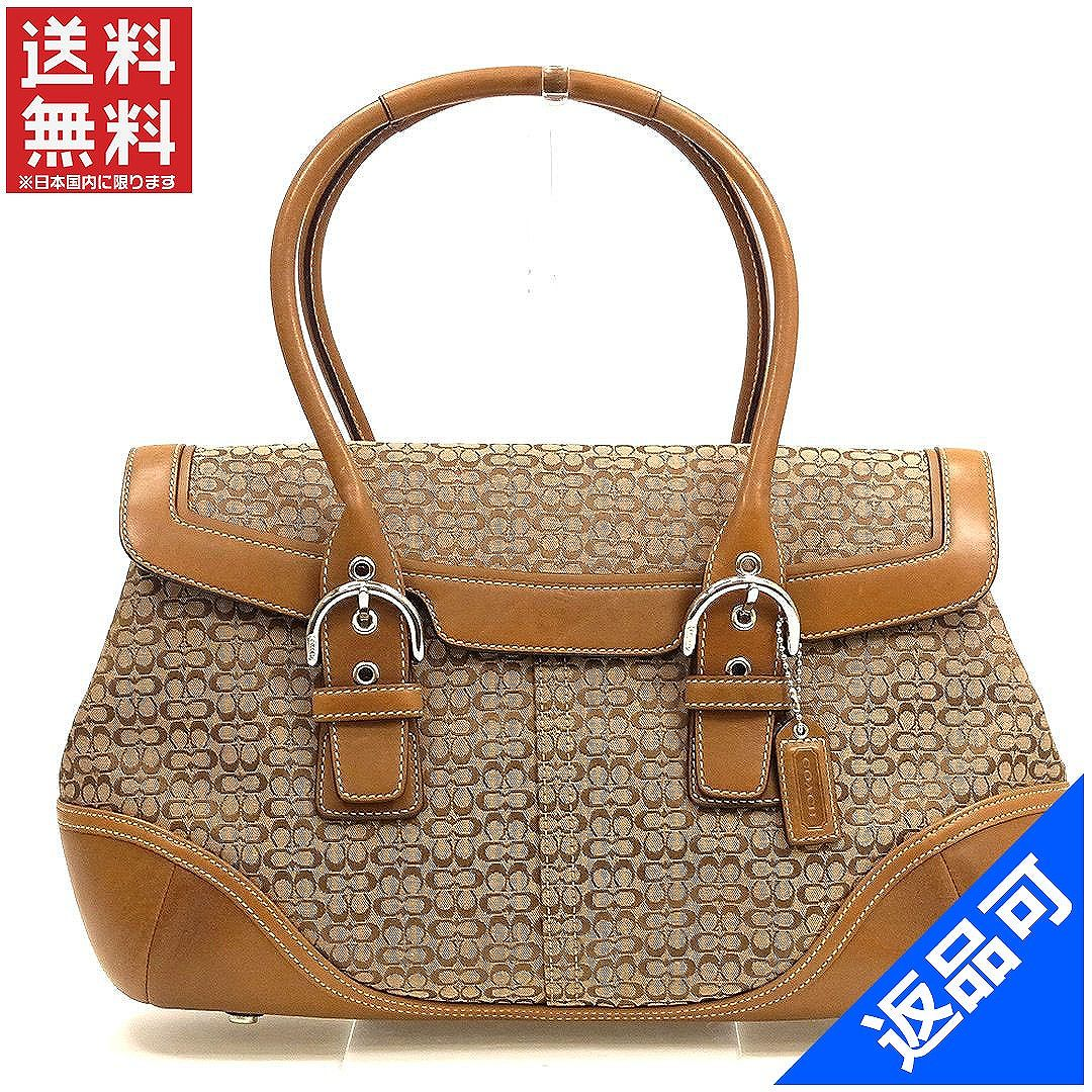 6db67c40b4a1 Coach COACH shoulder bags handbags signature Brown canvas   leather (for)  good popular X8130