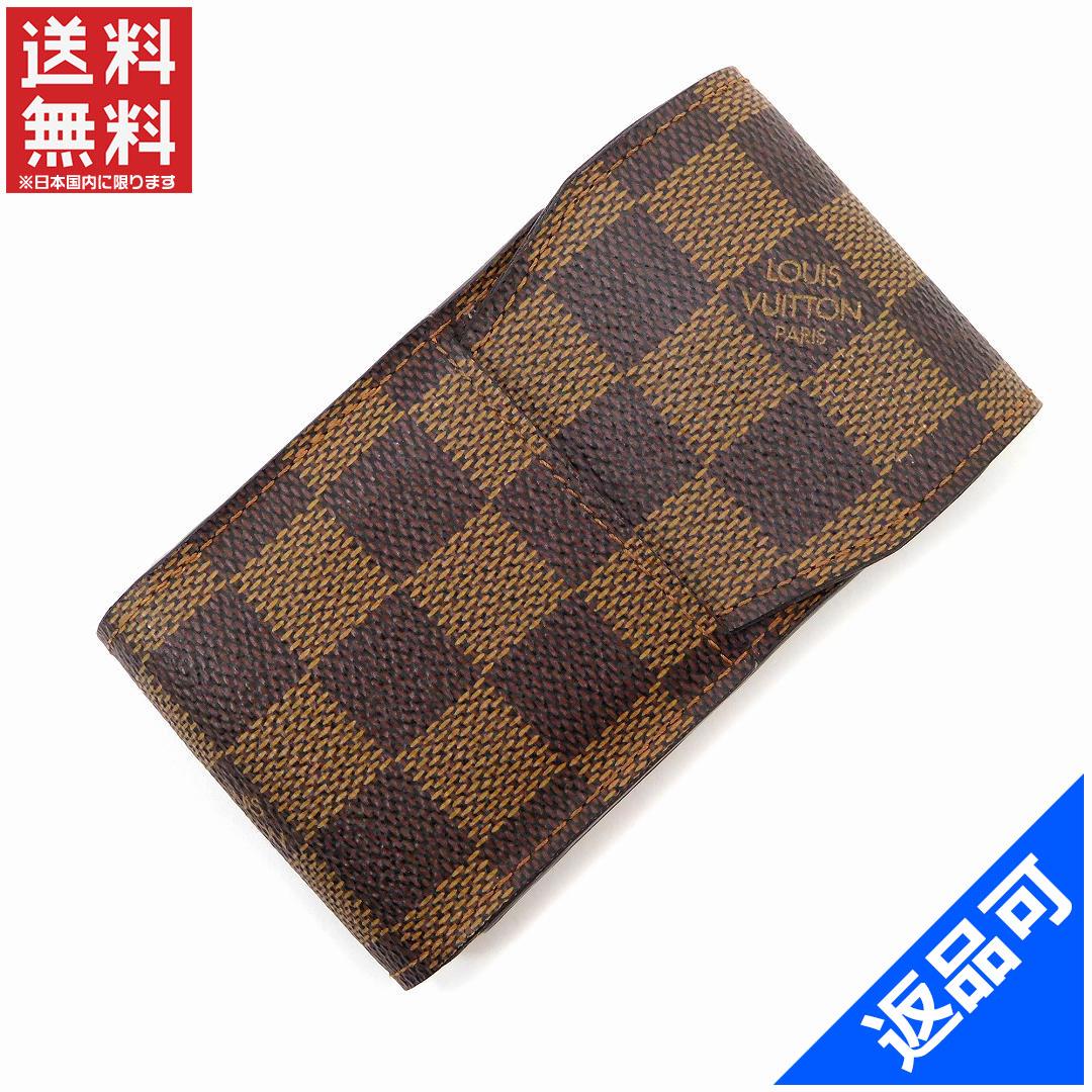 26e36579e3 Louis Vuitton Louis Vuitton cigarette case tobacco put men allowed etuis,  cigarette Damier N63024 Brown PVC x leather (for) instant beauty products  ...
