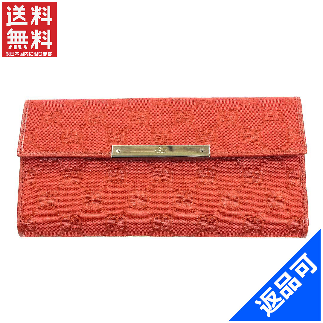 88dd189b62b Gucci by GUCCI long wallet mens-friendly GG pattern Red Canvas x leather  with beauty products available for instant delivery (less used) X8612