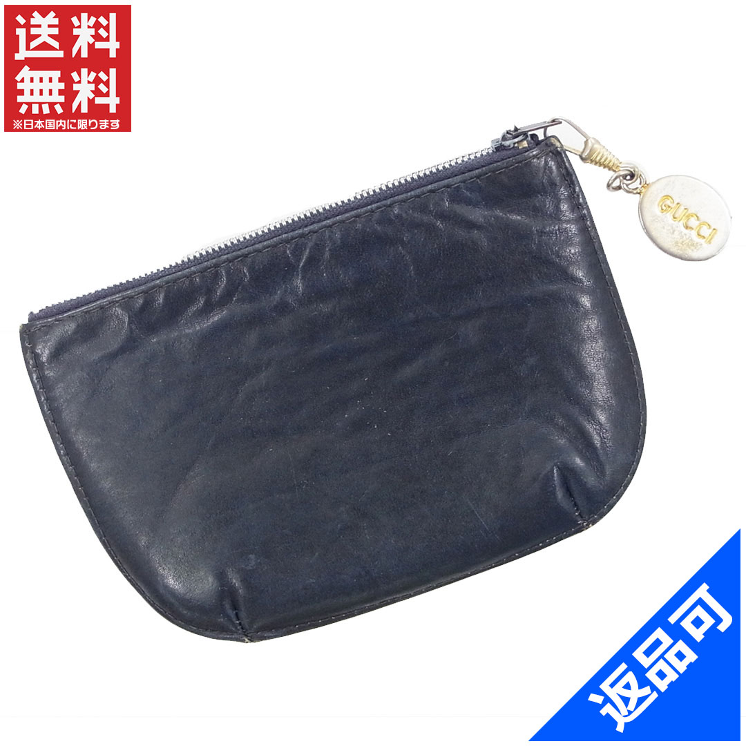918911d8cb47b0 Gucci by GUCCI coin purse wristlet men allowed Navy leather with cheap  stock X9472