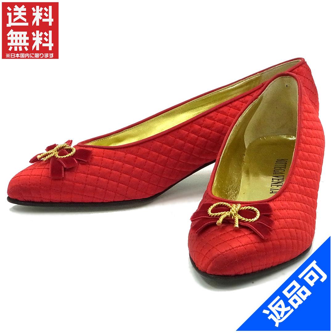 [半額セール]ボッテガ・ヴェネタ BOTTEGA VENETA 靴 パンプス リボン 中古 X9495
