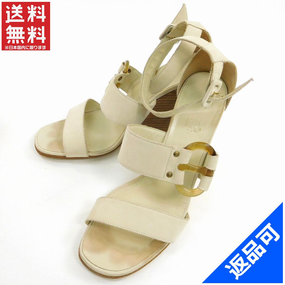 [半額セール]エルメス HERMES 靴 サンダル シューズ 靴 ウエッジソール 中古 X9546
